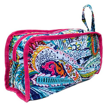 Best Multicolored Paisely Beach Boat Hanging Shaving Toiletry Travel Bag Zipper & Strap Hanger Pouch Case Weird Back to School Gift Idea Under 20 Dollar for Teen Girl Her Girlfriend Mom Wife