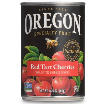 Oregon Fruit Products Oregon Fruit Whole Pitted Tree-Ripened Red Tart Cherries in Water, 14.5 oz. Can