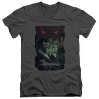 Hobbit/Taunt S/S Adult V Neck 30/1 Charcoal Hob3020 [clothing_size_type: clothing_size_type-regular]