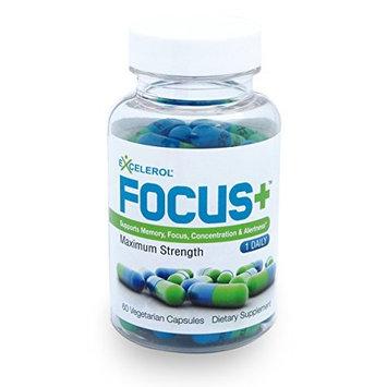Excelerol Focus Plus Brain Supplement Capsules, 60 Count