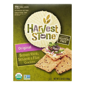 Harvest Stone Brown Rice Sesame & Flax Crackers Original 3.54 oz