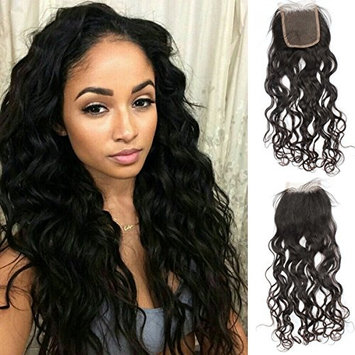 Vanessa Queen Natural Black Wave Closure Virgin Hair Free Part 3.5