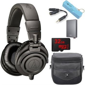Audio-Technica ATH-M50xMG Limited Edition Professional Studio Monitor Headphones E12 Amp Bundle