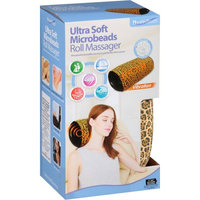 Leader Light Limited Health Touch Ultra Soft Microbeads Roll Massager, Cheetah Print
