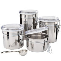 SilverOnyx Kitchen Canisters Stainless Steel - 4pc Set