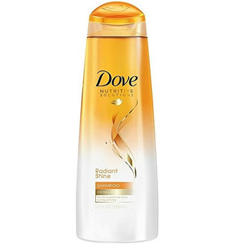 Dove Advanced Hair Series Shampoo, Radiant Shine 12 oz (Pack of 5)