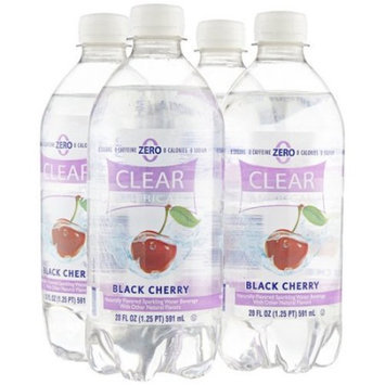 Clear American Black Cherry Sparkling Water Beverages, 20 fl oz, 4 pack