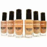 6 FULL KLEANCOLOR SUPER NATURAL LIQUID FOUNDATION LF1295 MOISTURE BOOST SPF15 + FREE EARRING