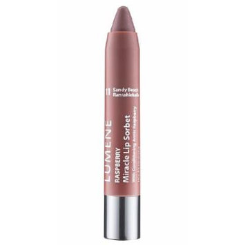 Lumene Raspberry Miracle Lip Sorbet with Four Fabulous Features: Lip Liner, Color, Gloss and Conditioner (11 Sandy Beach)