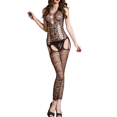 JenniWears Sexy Women's Cut Out Backless Body Stocking Gartered Lingerie