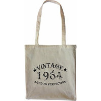 Mister Merchandise Tote Bag Vintage 1984 - Aged to Perfection 31 32 Shopper Shopping , Color [Black]
