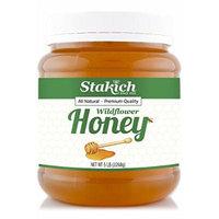 Stakich LIQUID HONEY 5-LB (6 PACK) - 100% Pure Wildflower, All Natural, KOSHER -