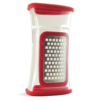 Norpro Kitchenware Ginger Grater, Nutmeg Grater For Garlic, Cheese, Chocolate, Seed, Red