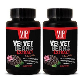 Sexual enhancement - VELVET BEANS EXTRACT (L-DOPA 99%) - Best L Dopa - 2 Bottles 120 Capsules