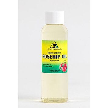 Rosehip Seed Oil Organic Refined Cold Pressed by H&B OILS CENTER Premium 100% Pure 2 oz