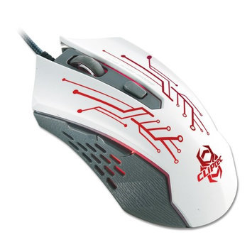 CLiPtec THEROP White 2400 Adjustable DPI Optical 6 Button Wired LED Gaming Mouse