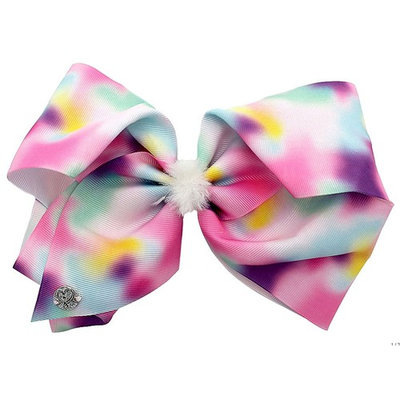 JoJo Siwa Large Cheer Hair Bow (Rainbow Fluff)