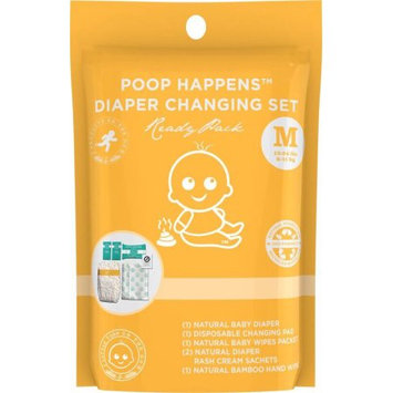 Products on the Go POTG1010 Poop Happens Ready Pack VB Diaper - Medium
