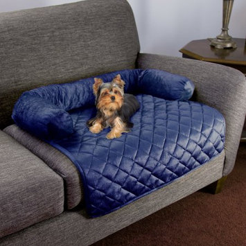 Trademark Global Llc Furniture Protector Pet Cover for Dogs and Cats with Shredded Memory Foam filled 3-Sided Bolster Soft Plush Fabric by PETMAKER