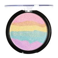 Vovomay Women's Long Lasting Waterproof Sweat Eye Shadow, Professional 1 PCS Baked Shimmer Rainbow Highlight Blush Eyeshadow palette
