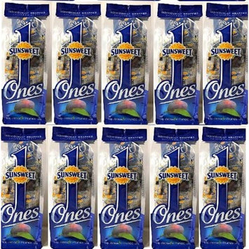 Sunsweet Ones Individually Wrapped Pitted Prunes - 10 Packages (each package is 6 ounces) - PLUS