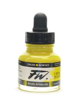 Daler-rowney FW Artists' Ink lemon yellow, 1 oz. [pack of 3]