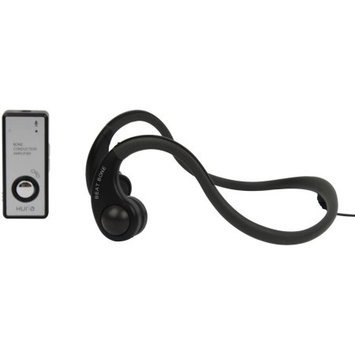 Hitrons Solutions ENO-BBLK Open Ear Bone Conduction Headphones with Microphone, Sports, Outdoor, Biking, Running