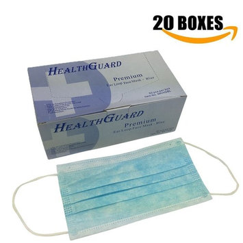 3-Ply Commercial Grade Dental Surgical Medical Disposable Earloop Face Masks, Latex Free | FDA Registered & Approved! (1000 MASKS/20 Boxes, Blue)