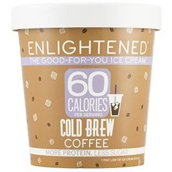 Enlightened - The Good For You Ice Cream, High Protein-Low Sugar-High Fiber-Low Fat, Cold Brew Coffee, Pint (8 Count)