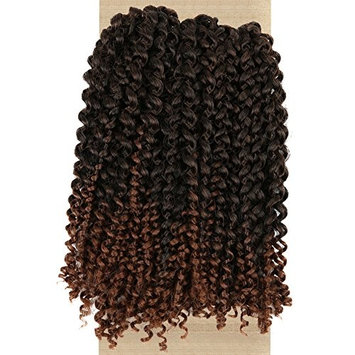 Lady Miranda Ombre Color Afro kinky Curly Braiding Hair Extensions Jerry Curl Crochet Hair 3X Braid Hair Short Synthetic Hair Styles