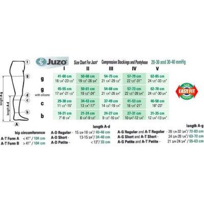 Juzo 2001 Soft Open Toe Knee Highs - 20-30 mmHg Reg 2001AD-PAR