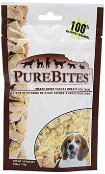 Pure Treats Inc PureBites Turkey Dog Treats, 1.16-Ounce Multi-Colored