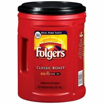 SCS Folgers Classic Roast Ground Coffee - 48 Oz.
