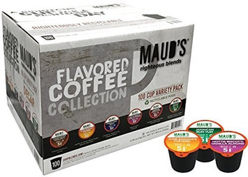Maud's Coffee Maud's Gourmet Coffee Pods - Decaf Flavored Collection, 100-Count Single Serve Coffee Pods - Richly Satisfying Premium Arabica Beans, California-Roasted - Kcup Compatible, Including 2.0