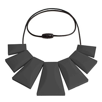 Egyptian Tribal Large Necklace Hypoallergenic Silicone Jewelry Teething Black