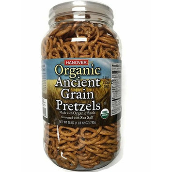 Hanover Organic Ancient Grains Spelt Pretzels, 28 Oz. Barrel by Hanover