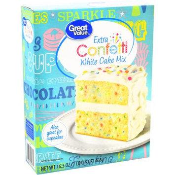 Great Value Cake Mix Confetti Sprinkles 16.5oz Box