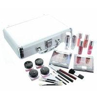 ETA Cosmetics Carry All Train Case with Makeup and Reusable Aluminum Case, Guylond
