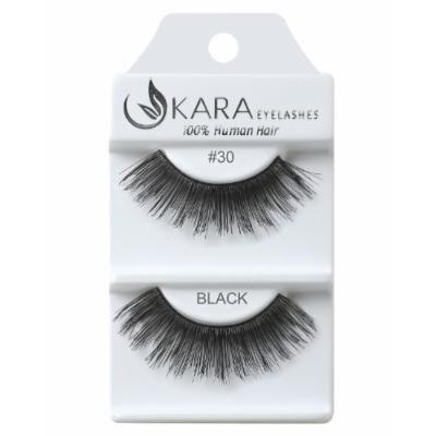 Kara Beauty Human Hair Eyelashes - 30 (Pack of 12)