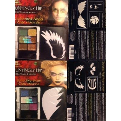 Haunting Hip Stencil Kit Enchanted Angel and Seductive Swan Halloween Makeup