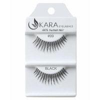 Kara Beauty Human Hair Eyelashes - 99 (Pack of 12)