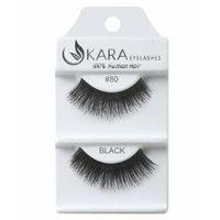 Kara Beauty Human Hair Eyelashes - 80 (Pack of 12)