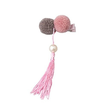 YueLian Little Girl's Barrettes Poms Chinese Traditional Style Hair Pins with Tassel