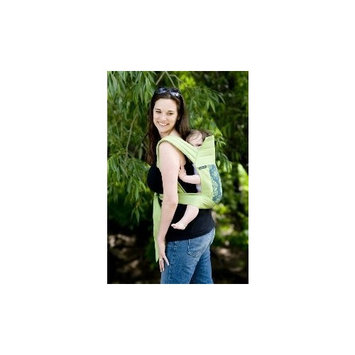BabyHawk Meh Dai (Mei Tei) Baby Carrier - Eyes of the World with Avocado Straps