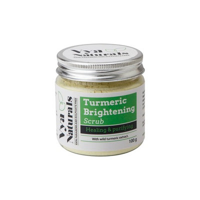Vya Naturals Turmeric Face Scrub (Dry Powder Exfoliant)-for Acne, Acne Scars & Scar Treatment-Cruelty-free -Exfoliating Properties–Excellent Turmeric Facial -Best Seller for Clear Glowing Skin 3.38 OZ