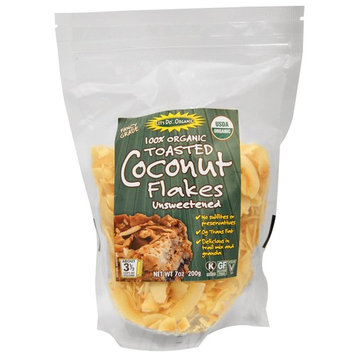 Edward & Sons, 100% Organic, Toasted Coconut Flakes Unsweetened, 7 oz (pack of 4)