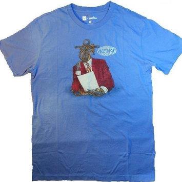 Funny Anchorman Blue T-shirt - News Anchor (Small)
