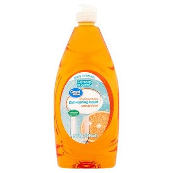 Great Value Ultra Concentrated Dishwashing Liquid, Orange Scent, 24 fl oz