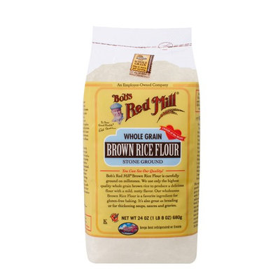 Bobs Red Mill Whole Grain Brown Rice Flour, 24 Oz Bag (3 Pack)