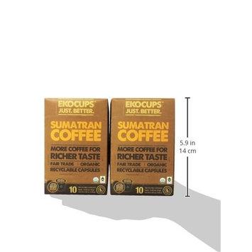 EKOCUPS Artisan Organic Sumatran Coffee, Dark roast, in Recyclable Single Serve Cups for Keurig K-cup Brewers, 40 count